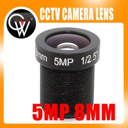 """Wholesale M12 Lens Hd - Wholesale- 5MP hd 8mm CCTV Lens For Security cctv IP Camera F2.0 M12 Mount Fixed Iris Format 1 2.5"""""""
