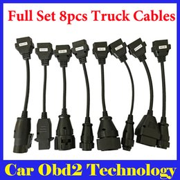 Wholesale truck prices - Best Price Full Set Of Truck Cables For TCS CDP PRO CDP Scanner OBD2 Diagnostic Cables Truck Cables Free Shipping