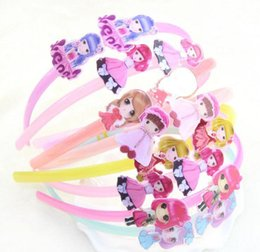 Wholesale Korean Girl Band Cartoon - 2017 new children's hair band Korean version of the environmental protection headdress candy color acrylic cartoon head hoop beauty girl hea