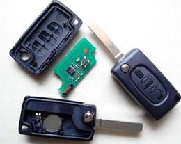 Wholesale citroen c4 key - Best peugeot 307 remote key citroen c4 3 BUTTONS flip folding remote key 434MHZ with ID46 chip