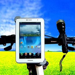 Abrazadera de la tableta online-Bike Mount Bicycle Holder 360 Rotación Bike manillar Mount Tablet Holder Bracket Back Clamp tablet para Samsung Tablet para iPad mini