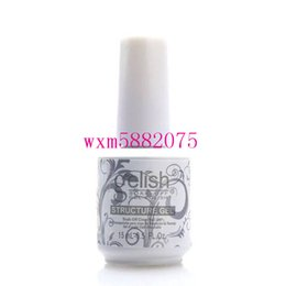 Wholesale top coat clear nail - High quality 2017 Harmony Gelish Nail Polish STRUCTURE GEL Soak Off Clear Nail Gel top coat Foundation Top it off Nail art foundation gel