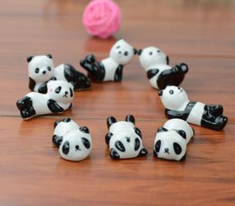 Großhandels-10x Keramikwaren Panda Essstäbchen Rest Porzellan Löffel Gabel Messer Halter Ständer Cute Lovely Animal Shaped Heimgebrauch Dinner Party von Fabrikanten