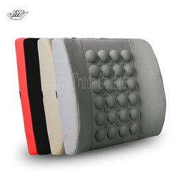 Wholesale Volkswagen Electric - New 12V Cigarette lighter plug Household Auto Electric Massage Car Cushion Waist Support Pad Electric Lumbar Support