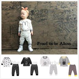 spring fashion colours Promo Codes - Baby Ins Clothing Sets Ins Fashion Suits Stripe Plaid Outfits Letter Penguin Tops Pants Cotton Fox Shirts Trousers Pajamas Sleepwear B1236