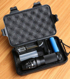Wholesale Diving Flashlights Cree - New Powerful X800 LED Flashligh CREE XM-L2 4000 Lumens LED Torch Zoomable Flashlight LED Lamp + Battery +Charger 878 Flashlight