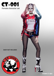 """Wholesale Sexy Female Soldiers - CAT TOYS Female Sexy Character Harley Quinn Outfits w  Head Set 1 6 (NO BODY) for 12"""" Action Figure doll Toys soldier model"""