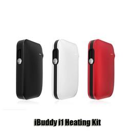 Wholesale E Cigarette Rechargeable - 100% Original iBuddy i1 Heating Kit 3.3-4.2V Built-in Rechargeable 1800mAh Battery E Cigarette Vape Kit