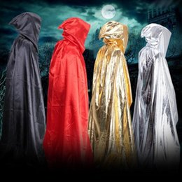 Wholesale Death Costumes - Sorcerer Death Cloak Halloween Costumes Halloween Cosplay Theater Prop Cloaks Devil Mantle Adult Hooded Cape Decoration Masquerade