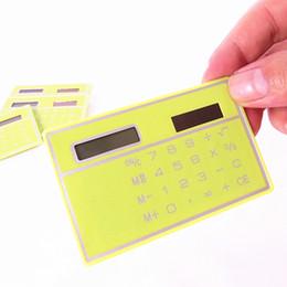 Wholesale World Time Alarm Clock - Creative stationery card calculator ultrathin calculator solar calculator