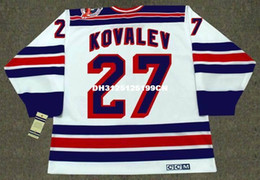 Wholesale 1994 New York Rangers - Cheap custom retro ALEX KOVALEV New York Rangers 1994 CCM Vintage Home Jerseys Throwback Mens stitched Hockey Jersey