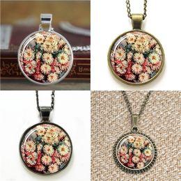 Wholesale art paintings flowers - 10pcs Claude Flower Painting Art Pendant Necklace keyring bookmark cufflink earring bracelet