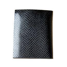 Wholesale Vertical Leather Wallet - Luxury Men MB Genuine Leather Vertical Wallet Man Serpentine Mon Wallet