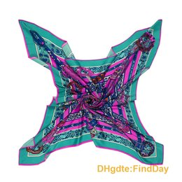 Wholesale French Scarves - The Unicorn song of French style lady new spring silk twill shawl scarf 130cm
