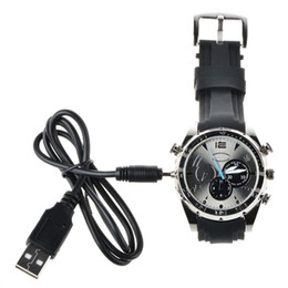 Wholesale Hd Video Recorder Watch - Hd 1080p 16GB Mini Waterproof Camcorders Watch DVR Video Recorder With Ir Night Vision