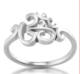 Wholesale Ohm Jewelry - high quality Chuvora 925 Sterling Silver Calligraphy Style Yoga jewelry, Aum, Om, Ohm, India Symbol Ring