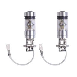 Projetor levou h3 on-line-H3 100 W LED Car Light Bulb 20 LED Smd 12 V 100 W Branco 6000 K Projetor LEVOU Lâmpada sinal de Freio de Volta Estacionamento DRL Cauda Luz de Nevoeiro Universal LEVOU lâmpada