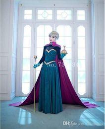 Wholesale Snow Women Xxl - 2016 adult Snow Queen Anna Elsa Princess costume women Elsa Anna Coronation Cosplay Dress halloween adult cosplay dress for women