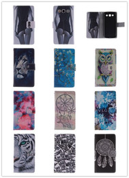 Wholesale S4 Pocket - Flip PU Leather Phone Case For samsung S3 (9300) S3mini(8190) S4 (9500) Stand Wallet Case Owl Tiger Lion Dandelion Pattern Cover