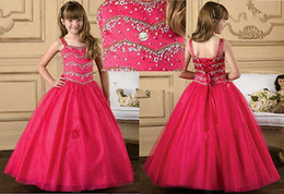 Wholesale Coloured Organza Wedding Dress - Sell like hot cakes! Flower Girl Dress Wedding Birthday Princess Pageant party Prom Custom colour