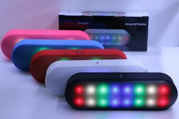 Wholesale Wholesale Pills - BT808NL New Pill 2 Mini Portable Wireless Bluetooth Speaker With Pulse LED Liht Flash Pill XL Speaker Bulit-in Mic Handsfree PK BT808L