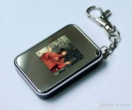Wholesale Gift Cards Pictures - New 1.5 inch LCD Mini Digital Photo Picture Frame Viewer with Keychain Bithday Gift DHL Free Ship