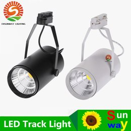 Wholesale White Track Light - NEW 30W AC85-265V 2700LM COB LED Track Light Spotlight Lamp Adjustable for Shopping Mall Clothes Store Exhibition Office