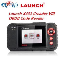 Wholesale Launch Creader Obdii - Launch X431 Creader VIII OBDII Code Reader Auto OBDII  EOBD Code Reader Scanner X431 Creader 8 X-431 Creader VIII Best DHL Free