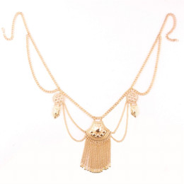 Wholesale Belly Dance Necklace Coin - Waist Chain Tassel Belly Chain Women Boho Bohemian Shimmy Belt Dance Gypsy Turkish Metal Dangle Multilayer Sequins Body Jewelry
