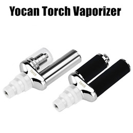 Wholesale Torch Design - Authentic Yocan Torch Nail Wax Dry Herb 2 in 1 Vaporizer Kits with Quartz Dual Coil Nero Technology Design e cigarette kits