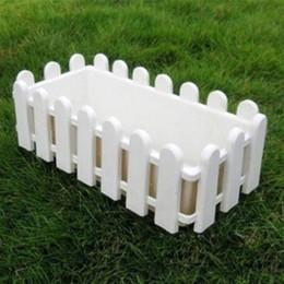 Wholesale White Plastic Fencing - Rectangular plastic resin fence hydroponic vegetables balcony flowerpot Nursery Pots Garden Use Plastic Flower Plants Pot