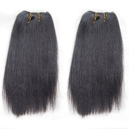 Wholesale Remy Human Hair Yaki Color - 2pcs lot Brazilian Light Yaki Human Hair Weaves Good Quality Yaki Straight Remy Hair Extension Post Mail Free Shipping