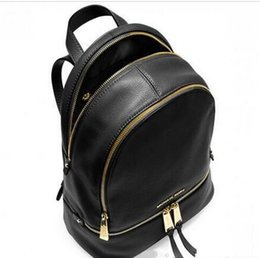 Wholesale Cream Bags - Hot Sale backpacks designer 2018 fashion women lady black red rucksack bag charms free shipping
