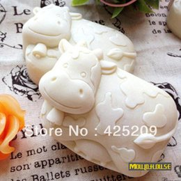 Wholesale Eco Silicone Candle Molds - Cute cow mold soap,candle molds,silica gel mould,siliconmold silicone,silicone molds