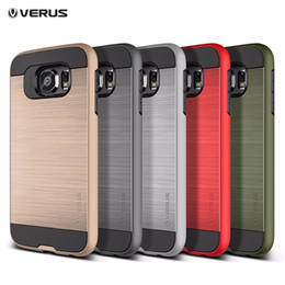 Wholesale Ares Armor - For Samsung S7 S6 edge Hybrid Hard Case Shockproof for Note 4 Note 5 S4 S5 Fashion Creative Wire Drawing Ares Armor Drop-resistant