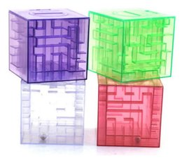 Wholesale Wholesale Money Maze - MONEY MAZE coin box puzzle gift game prize saving bank educational toys Science & Discovery Free shipping