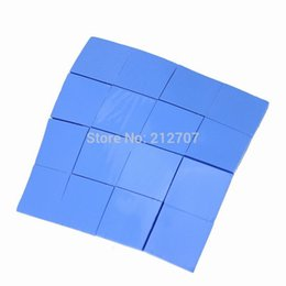 Wholesale Thermal Computer - Wholesale- 16PCS 25 x 25 x 2mm Blue Thermal Heatsink Conductive Silicone Pad Thermal for CPU GPU VGA Chipset