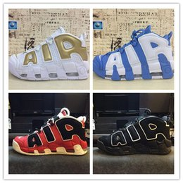 Wholesale More Golds - 2017 New Arrive Airils More Uptempoes SUPTEMPO Basketball Shoes OLYMPIC RELEASE Bulls Gold Varsity Maroon Black Mens Shoes Size Eur 40-46