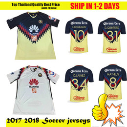 Wholesale Soccer Jersey Pink - TOP Quality 2017 2018 LIGA MX Club America soccer Jerseys 100 years home away Third Black Centenario Pink 17 18 SAMBUEZA football shirt