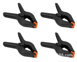 Wholesale Free Woodworking Tools - Wholesale- free shipping Tools 10PCS 4 Inch Black Plastic Nylon Spring Clamps Set for Paper Photo Backdrop Background Woodworking