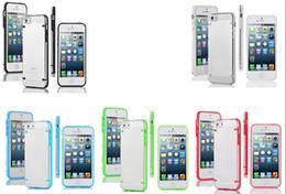 Wholesale Glow Case Iphone 4s - For iphone 6 6S Plus SE 5 5S 5C 4 4S Glow in Dark Hybrid Case TPU Silicone+Hard PC Plastic Galaxy S7 Edge S6 Plus Luminous Dual Color Cover