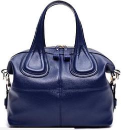 Wholesale Ladies Casual Real Leather Handbags - New Trend Genuine Leather Bags Ladies Real Leather Bags Women Handbags High Quality Tote Bag for Women Black Fashion Clip Hobos