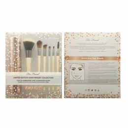 Wholesale Kit Brushes Set Aluminum - NEW HOT toofaced6 makeup brush with aluminum tube storage anniversary collection of makeup brush eyeshadow free shipping