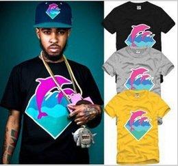 Wholesale Short Sleeved Mens Shirts - 2016 Hottest Dolphins Short-Sleeved T-shirt Hip-Hop Street T shirt Cotton Big Size Fashion Sport Mens T-Shirts MY-56