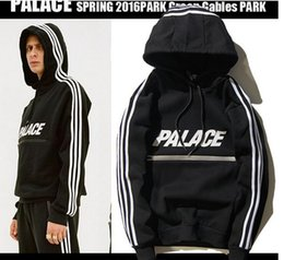 Wholesale Fleece Prints - Winter warm PALACE hoodies Letter Print Pullover Men hoodie Sweatshirt