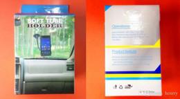 support de chargeur de voiture iphone 5s Promotion 100 PCS En Gros Cou De Voiture Support Universel 360 ° Support De Téléphone De Voiture 360 ° Rotatif Double Clip Téléphone portable Titulaire