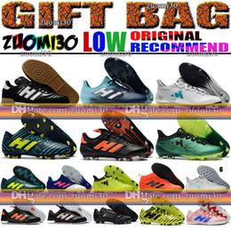 Wholesale Mundial Soccer - Cheap Copa Mundial Low Soccer Shoes ACE 17.3 X 17 Purechaos FG TF IC Indoor Football Boots Nemeziz 17.1 Tango Turf Soccer Cleats Primemesh