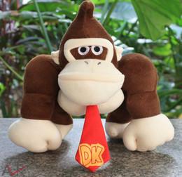 Wholesale hot doll games - Hot sale Super Mario plush toy doll 2 styles mario bros diddy kong with banana donkey kong free shipping