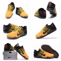 Wholesale Bruce High Quality - (With shoes Box) High Quality Kobe 11 XI 11 PE Bruce Lee 822675-706 University Gold Red Black Men Basketball Sport Sneakers Shoes