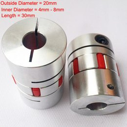 Wholesale Flexible Coupling Coupler - 1pce Motor Jaw Shaft Coupler Plum Shaped Clamping Flexible Coupling Shaft Coupler Encoder Inner Hole 4-8mm for CNC Stepper Motor